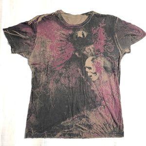 Distressed Winged Skull Shirt